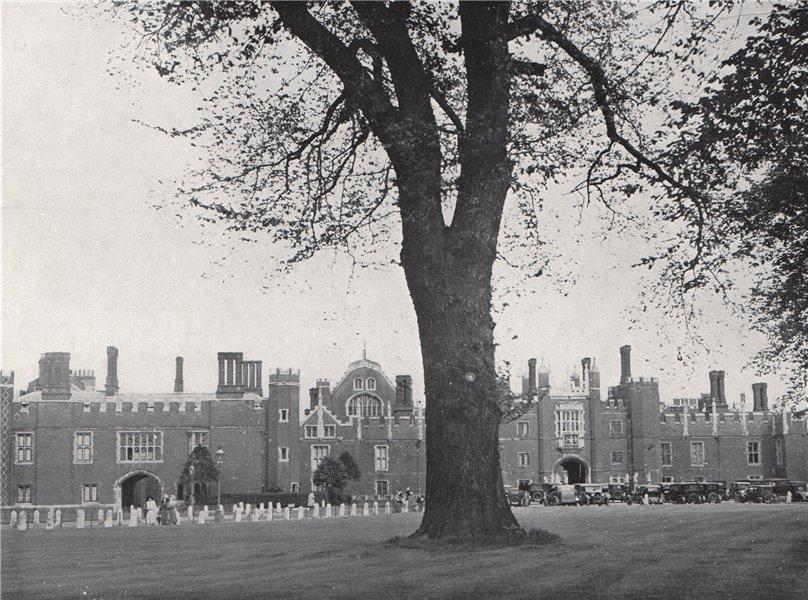 Associate Product Hampton Court Palace. E.O. HOPPÉ. London 1930 old vintage print picture