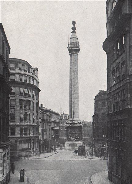 Associate Product The Monument. E.O. HOPPÉ. London 1930 old vintage print picture