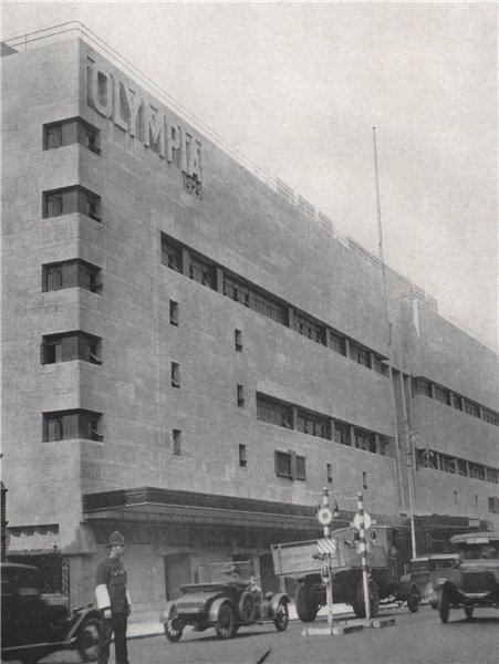 Associate Product Olympia. E.O. HOPPÉ. London 1930 old vintage print picture