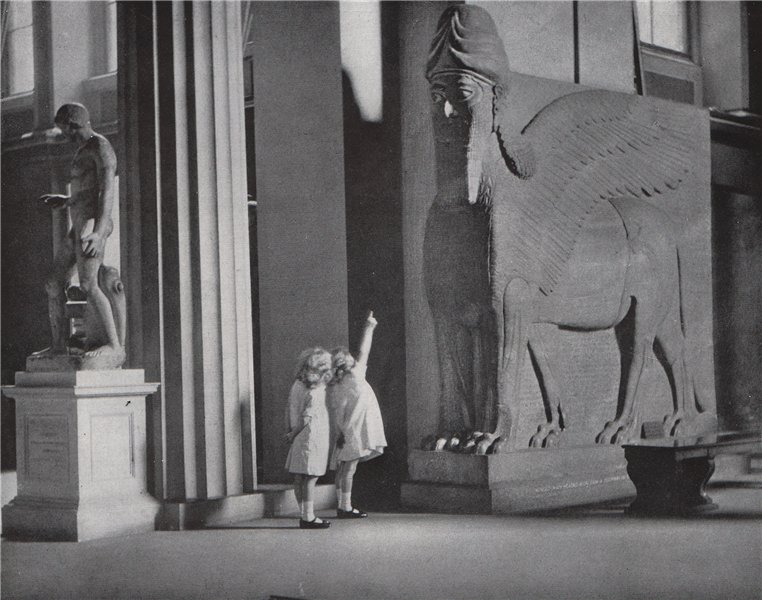 """Associate Product """"The Colossus."""" A picture from the British Museum. E.O. HOPPÉ. London 1930"""