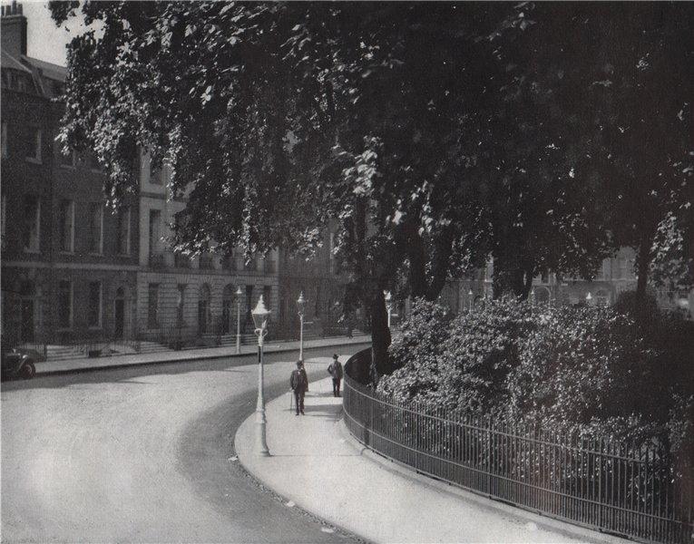 Associate Product Bedford Square. E.O. HOPPÉ. London 1930 old vintage print picture