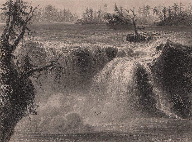Associate Product QUEBEC. Chaudière falls. Chutes de la Chaudière, Lévis. Canada. BARTLETT 1842