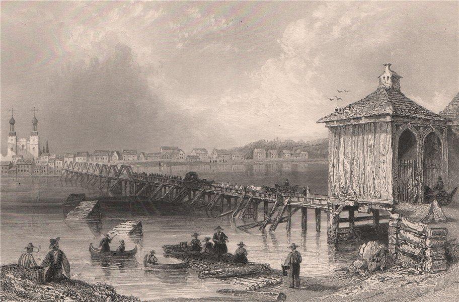 Associate Product QUEBEC. St. John's, Richelieu River. Saint-Jean-sur-Richelieu. BARTLETT 1842