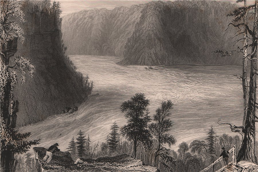 Associate Product CANADA. The Niagara Whirlpool, Niagara Gorge. New York/Ontario. BARTLETT 1842