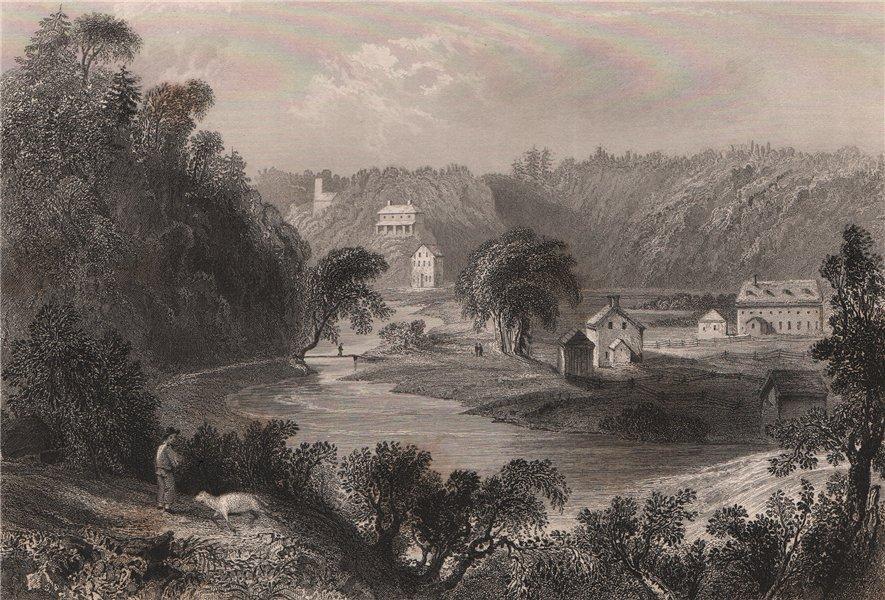 Associate Product CANADA. Kentville, Nova Scotia. BARTLETT 1842 old antique print picture