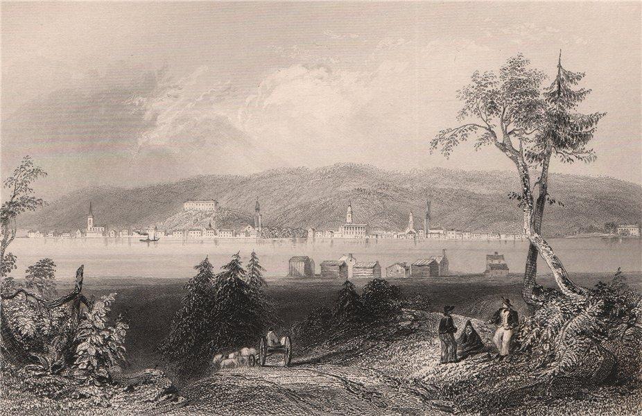 Associate Product NEW BRUNSWICK. Fredericton, from across the Saint John river. BARTLETT 1842