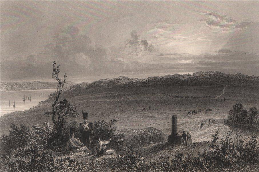 Associate Product QUEBEC CITY. Plaines d'/Plains of Abraham, Battlefields Park. BARTLETT 1842