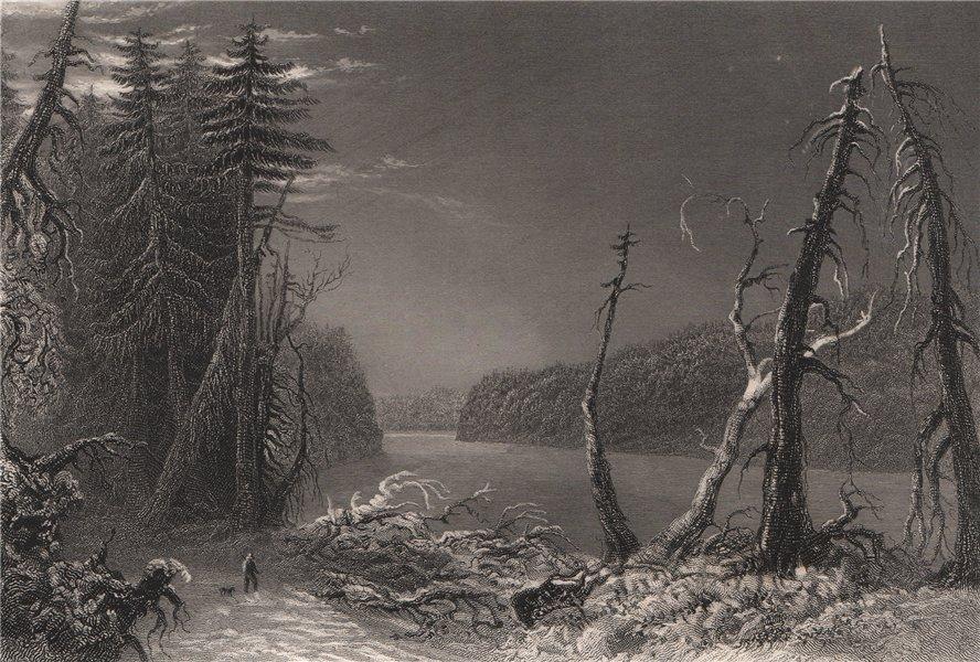 Associate Product QUEBEC. 'Orford Lake' Lake Stukeley or Fraser. Mont-Orford Canada. BARTLETT 1842