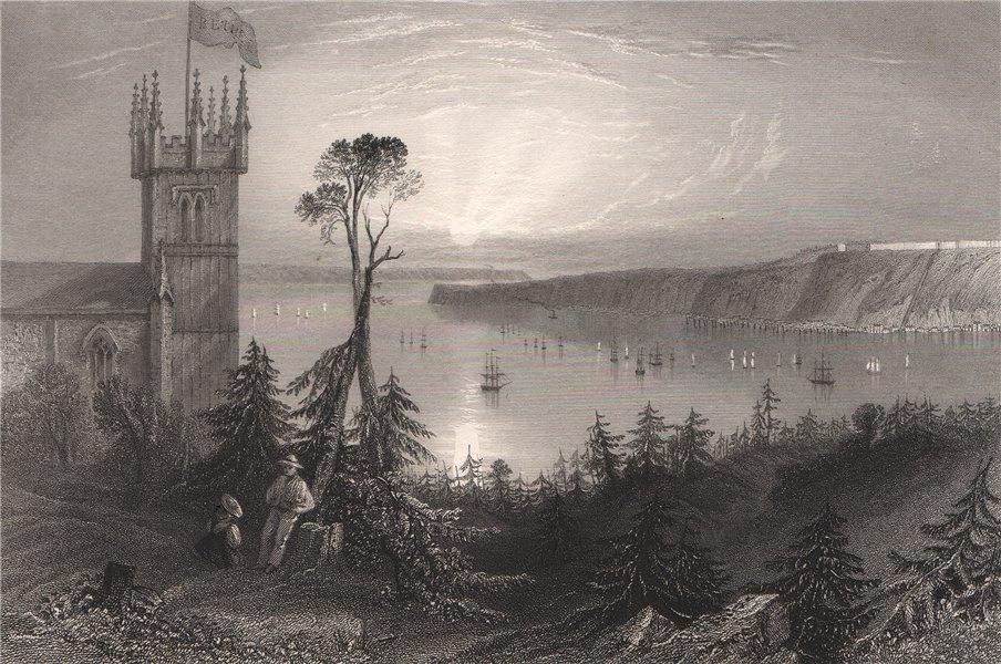Associate Product QUEBEC. Church at Pointe de Lévy, Lévis. Canada. BARTLETT 1842 old print