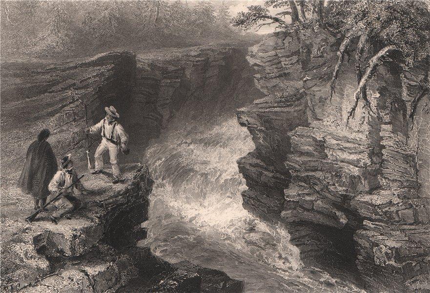 Associate Product QUEBEC. Les Marches Naturelles, Montmorency River. Canada. BARTLETT 1842 print