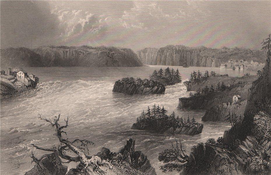 Associate Product NEW BRUNSWICK. Reversing Falls, St John River. Indiantown. Canada. BARTLETT 1842