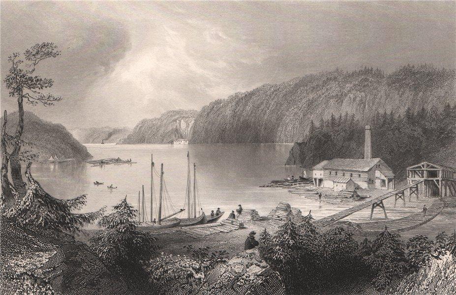 Associate Product NEW BRUNSWICK. Indiantown, North End, St John. Canada. BARTLETT 1842 old print