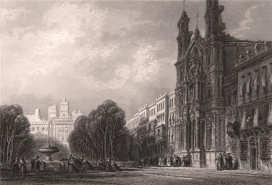Associate Product CADIZ. Iglesia del Nuestra Señora del Carmen y Santa Teresa. 'Cadix' 1855