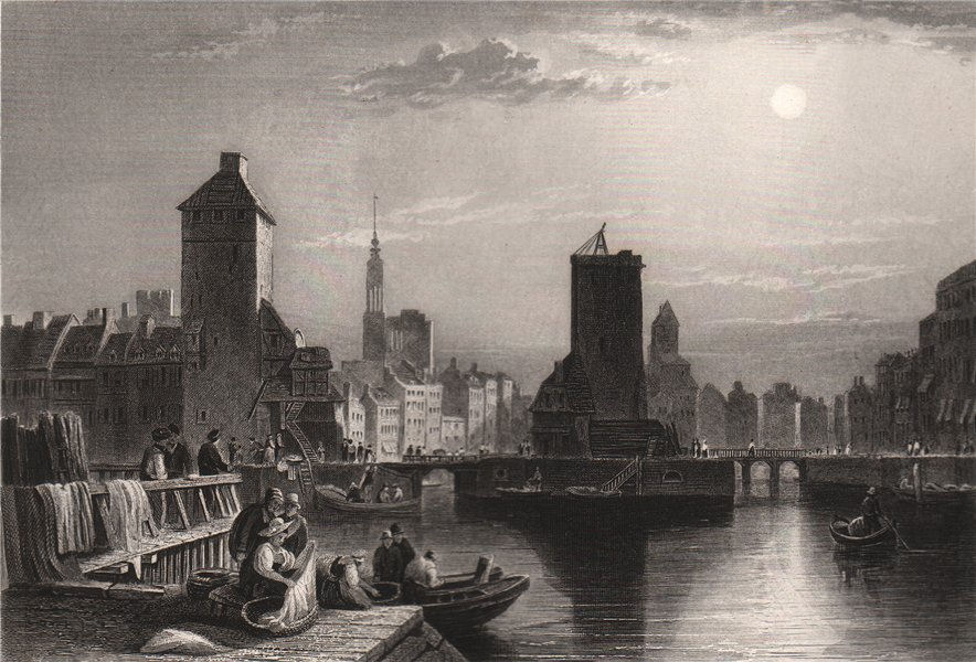 Associate Product PETITE FRANCE, I'Ill & Pont Couverts, STRASBOURG from Barrage Vauban 1855