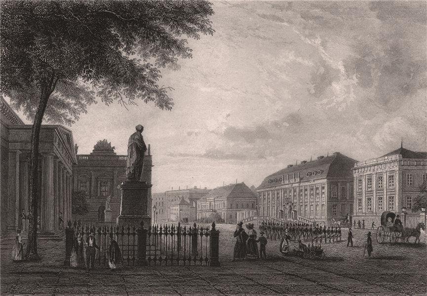 Associate Product Unter den Linden, BERLIN. Zeughaus, Kronprinzenpalais & Neue Wache. Germany 1855