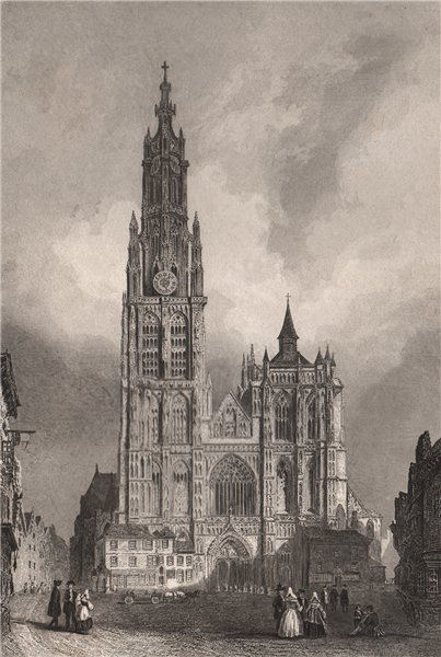 Associate Product ANTWERP. Cathedral of Our Lady (Onze-Lieve-Vrouwekathedraal). 'Anvers' 1855