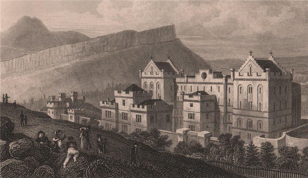 Associate Product EDINBURGH Bridewell Salisbury Crags Arthur's Seat from Calton Hill.SHEPHERD 1833