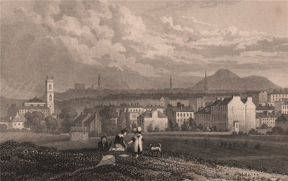 Associate Product EDINBURGH. Part of the New town, from the north west. SHEPHERD 1833 old print