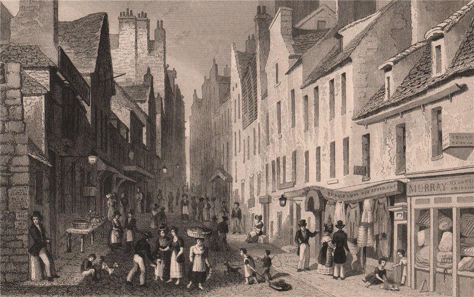 Associate Product EDINBURGH. St. Mary's Wynd, from The Pleasance. SHEPHERD 1833 old print