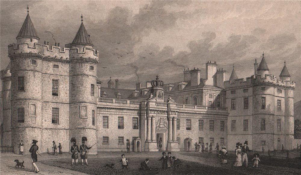 EDINBURGH. Holyrood Palace. SHEPHERD 1833 old antique vintage print picture