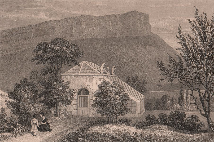 Associate Product EDINBURGH. The Summerhouse, Moray House Garden. Treaty of Union. SHEPHERD 1833