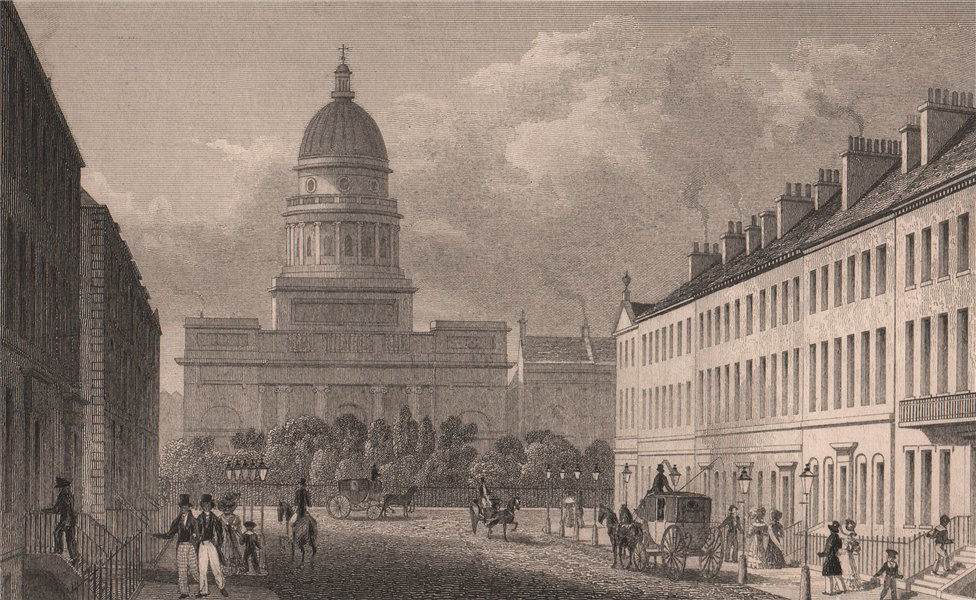 Associate Product EDINBURGH. St George's Church (now West Register House) from George Street 1833