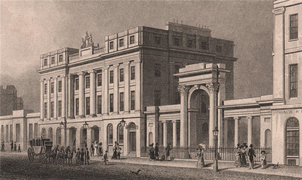 Associate Product EDINBURGH. New Post office, Waterloo Place. SHEPHERD 1833 old antique print
