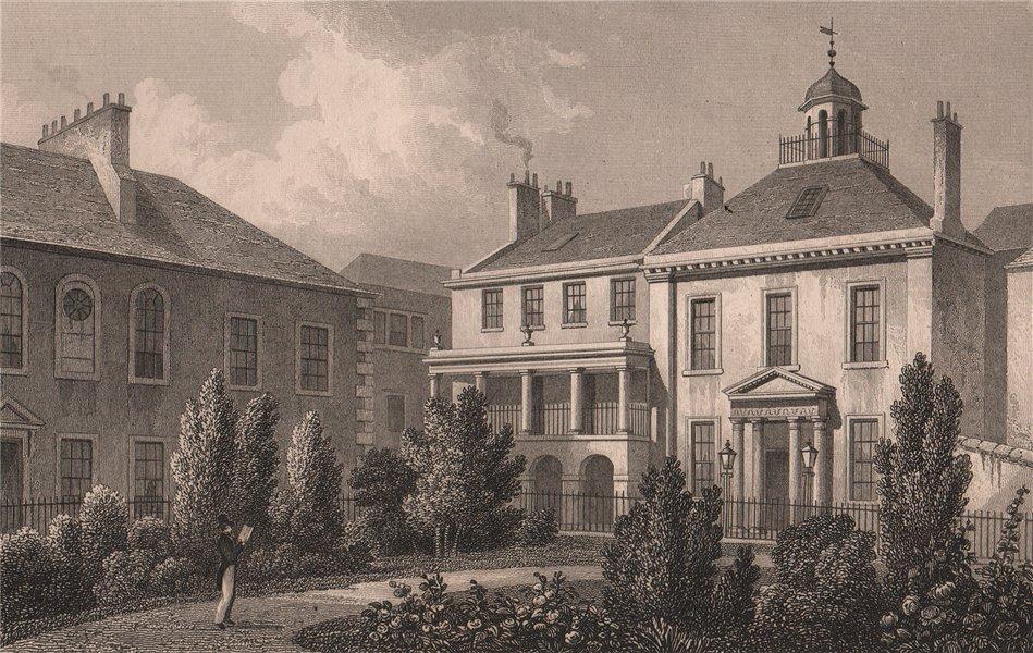 Associate Product EDINBURGH. Surgeons' Square. SHEPHERD 1833 old antique vintage print picture