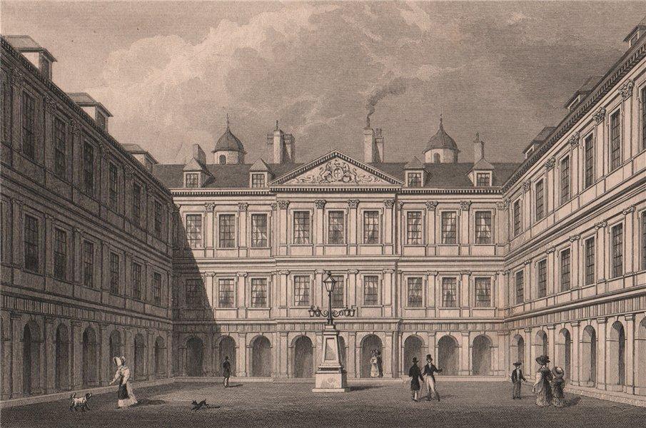 Associate Product EDINBURGH. Interior Quadrangle, Holyrood Palace. SHEPHERD 1833 old print