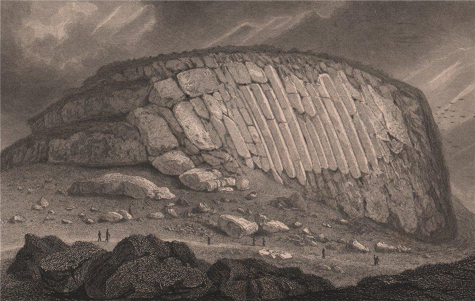 "Associate Product EDINBURGH. ""Sampson's Ribs"", rocks in Holyrood Park. SHEPHERD 1833 old print"