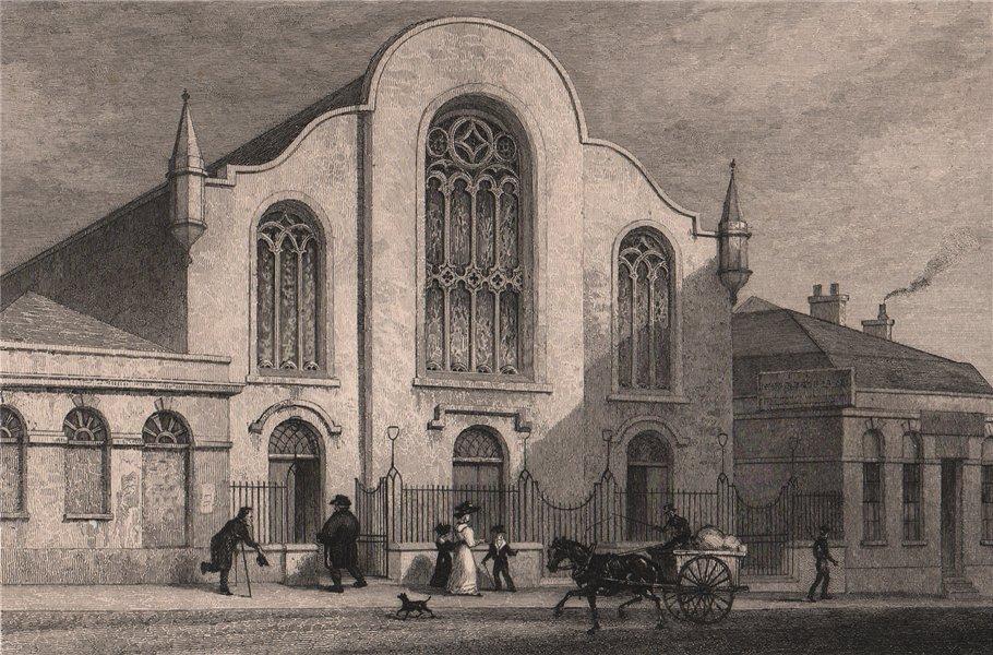 Associate Product EDINBURGH. Lady Yester's Kirk, Infirmary Street. Church. SHEPHERD 1833 print