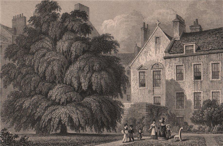 Associate Product EDINBURGH. Regent Murray's house (Moray House), from the garden. SHEPHERD 1833