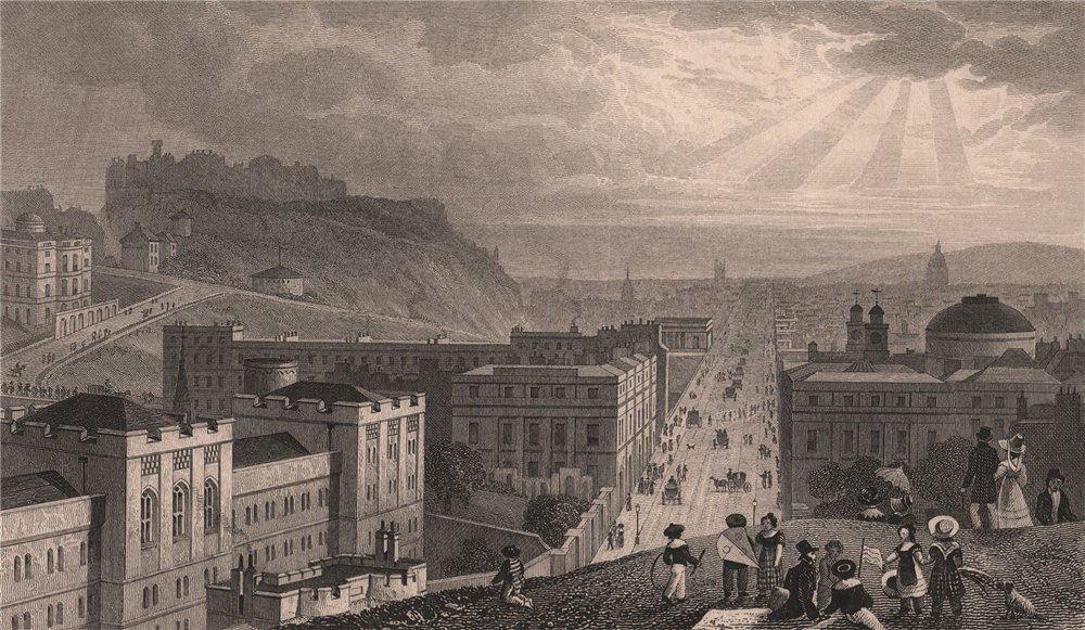 Associate Product EDINBURGH. Edinburgh, from Calton Hill. SHEPHERD 1833 old antique print