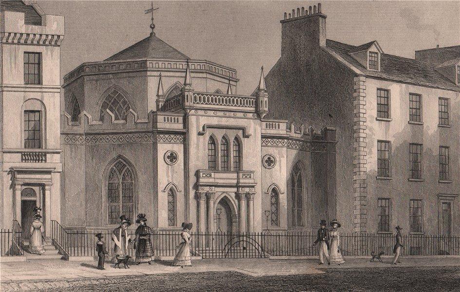 Associate Product EDINBURGH. St. George's Chapel, 5b York Place. SHEPHERD 1833 old antique print