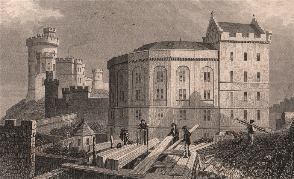 Associate Product EDINBURGH. East end of the Bridewell jail, and Governor's House . SHEPHERD 1833