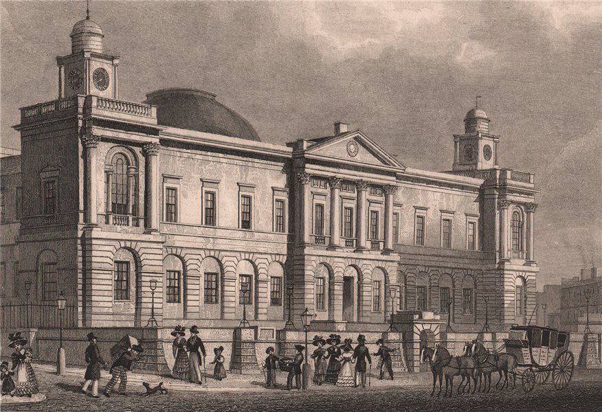 Associate Product EDINBURGH. The General Register Office, Princes Street. SHEPHERD 1833 print