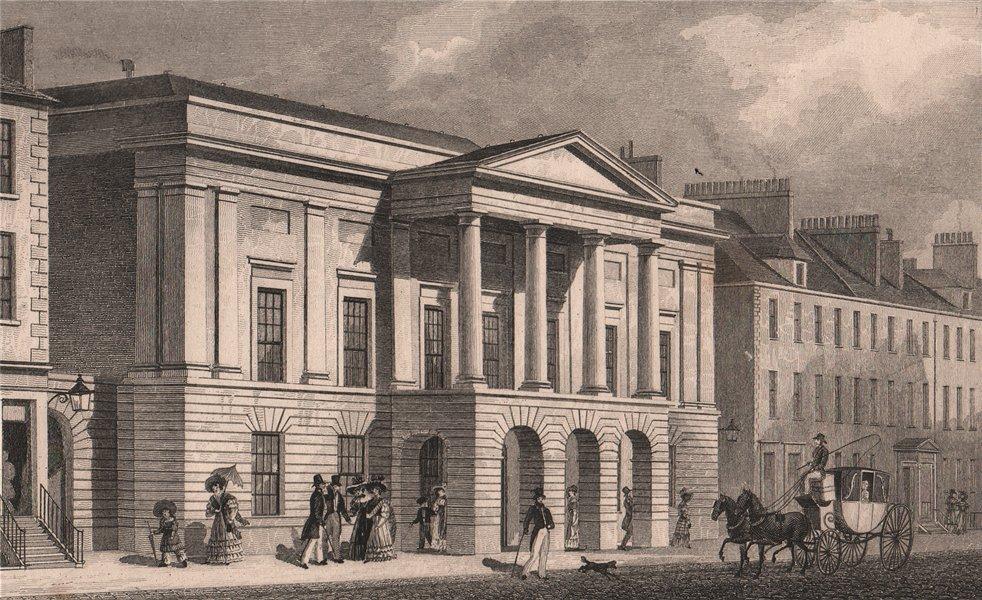 Associate Product EDINBURGH. Assembly Rooms, George Street. SHEPHERD 1833 old antique print