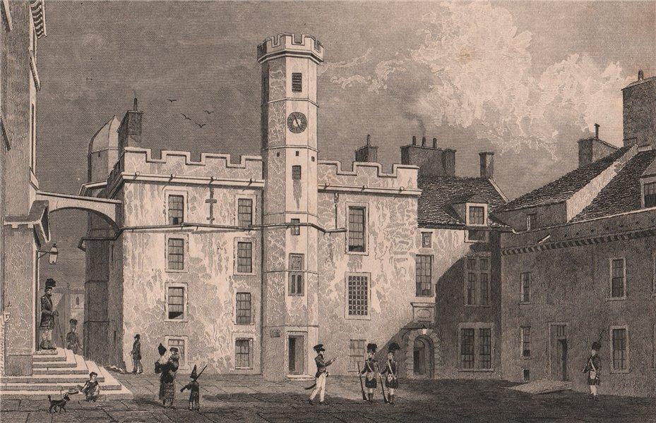 Associate Product EDINBURGH. The interior Quadrangle of the Castle. SHEPHERD 1833 old print