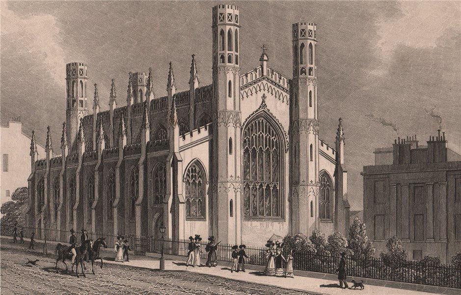 Associate Product EDINBURGH. St Paul's and St George's Church, York Place. SHEPHERD 1833 print