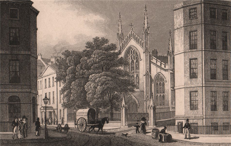 Associate Product EDINBURGH. St Mary's Roman Catholic Cathedral, from Picardy Place. SHEPHERD 1833