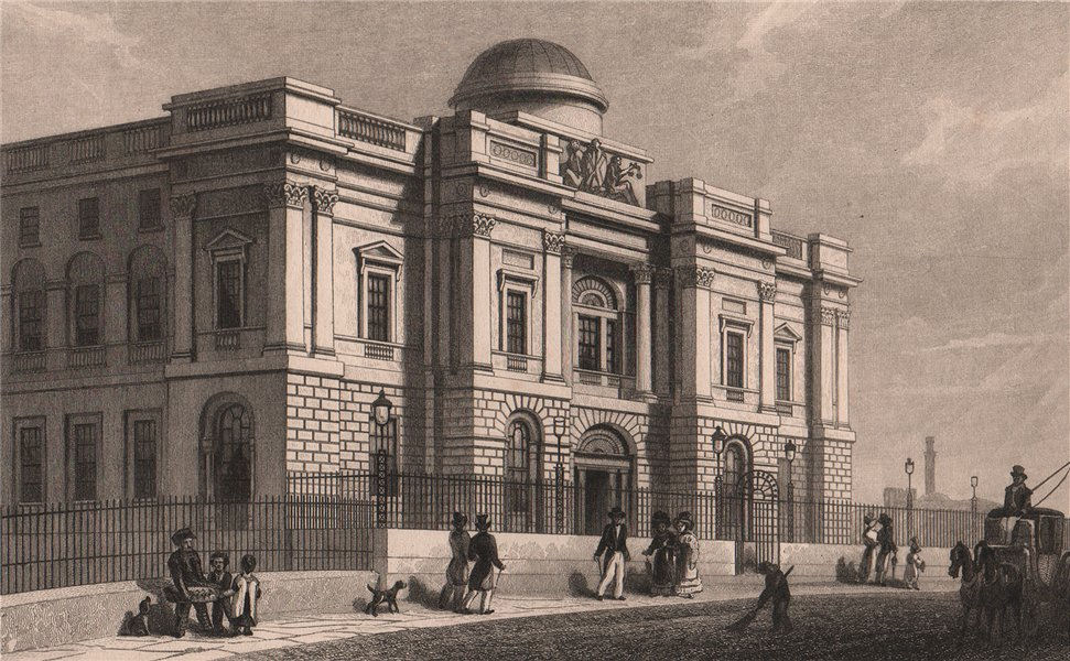 Associate Product EDINBURGH. Bank of Scotland head office, Bank Street. SHEPHERD 1833 old print