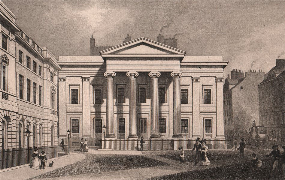 Associate Product EDINBURGH. New County Hall, and Advocate's Library. SHEPHERD 1833 old print