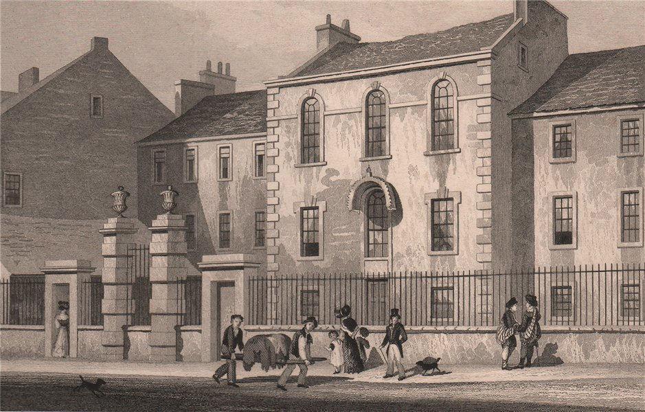 Associate Product EDINBURGH. Trades Maiden Hospital, Arygle Square (demolished 1870).SHEPHERD 1833