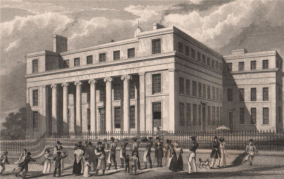 Associate Product Royal Liverpool Infirmary, Brownlow Street. Now Waterhouse Building. ALLOM 1829