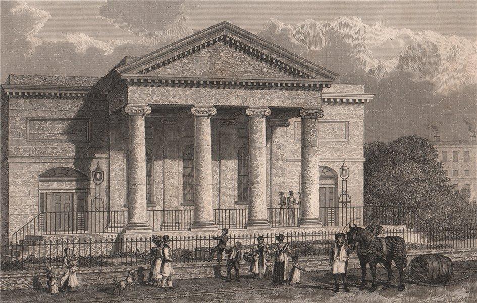 Associate Product Brunswick Weslyan Methodist Chapel, Moss Street. Razed 1964. Liverpool.PYNE 1829