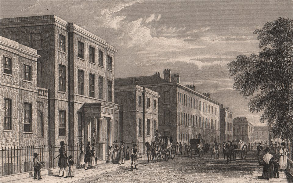 Liverpool Royal Institution, Colquitt Street. PYNE 1829 old antique print