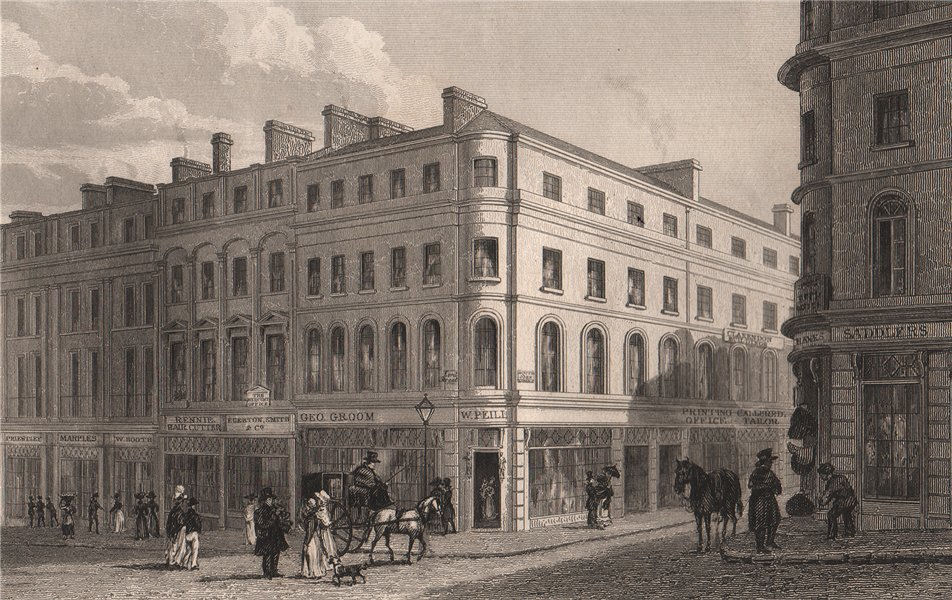 Associate Product Part of Lord Street, and South John Street. Liverpool. HARWOOD 1829 old print