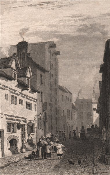 Associate Product 'More Street'. Moor Street. Liverpool. AUSTIN 1829 old antique print picture