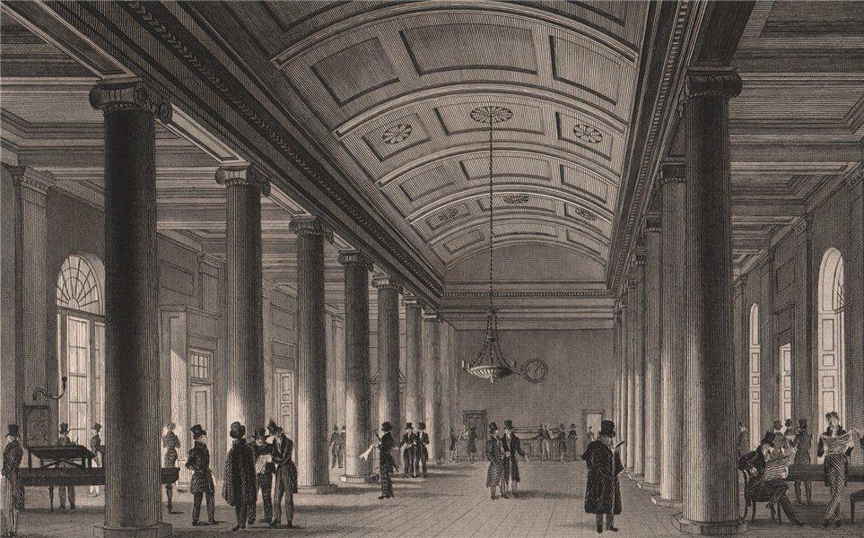 Associate Product Interior of The Exchange news room. Exchange buildings. Liverpool. HARWOOD 1829