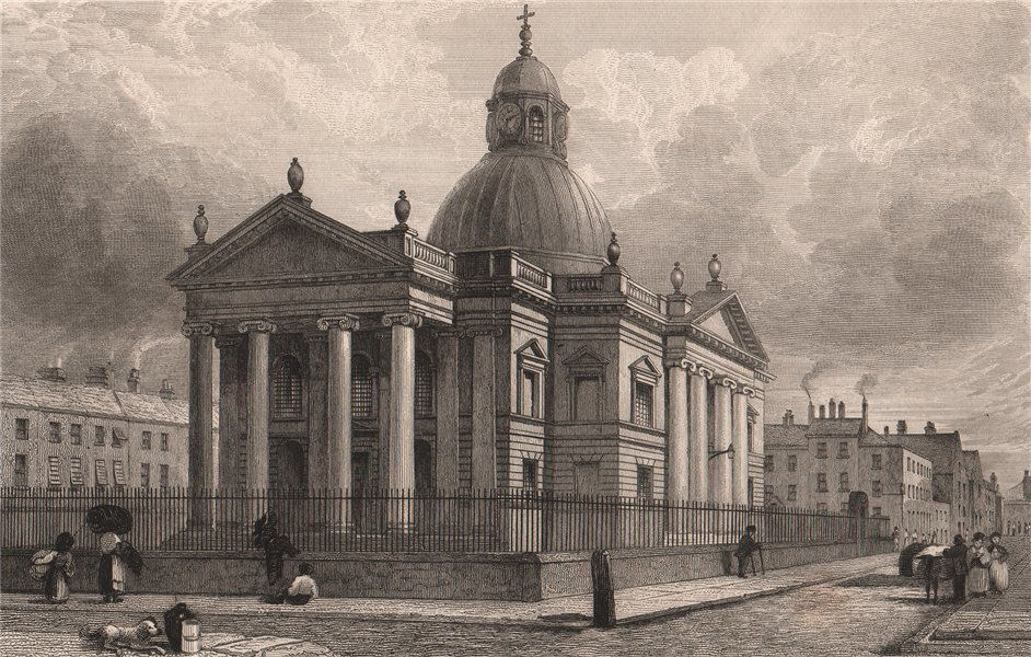 Associate Product St Paul's Church, St Paul's Square, Liverpool Central. Razed 1931. HARWOOD 1829